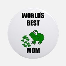 WORLD'S BEST MOM (FROGS) Ornament (Round)