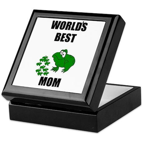 WORLD'S BEST MOM (FROGS) Keepsake Box