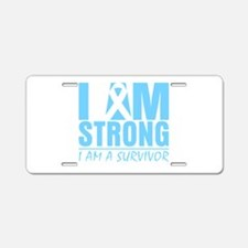 I am Strong Prostate Cancer Aluminum License Plate