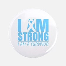 """I am Strong Prostate Cancer 3.5"""" Button"""