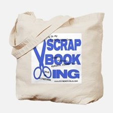 Scrapbooking - Blue Tote Bag