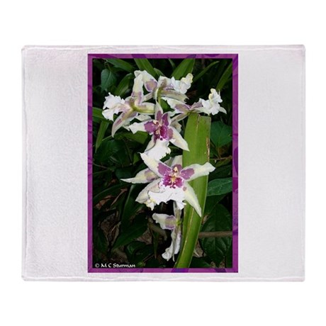 Orchids, beautiful, Throw Blanket