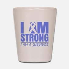 I am Strong Esophageal Cancer Shot Glass