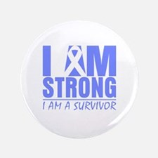 """I am Strong Esophageal Cancer 3.5"""" Button"""