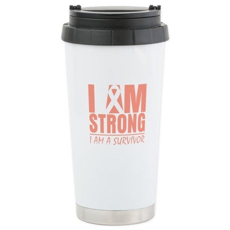 I am Strong Uterine Cancer Stainless Steel Travel