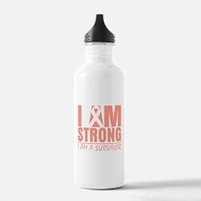 I am Strong Uterine Cancer Water Bottle