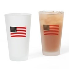 American Flag 4th of July BBQ Tumbler Pint Glass
