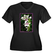 Orchids, beautiful, Women's Plus Size V-Neck Dark