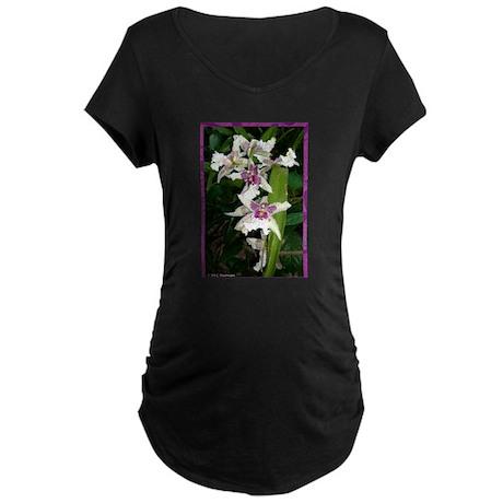 Orchids, beautiful, Maternity Dark T-Shirt