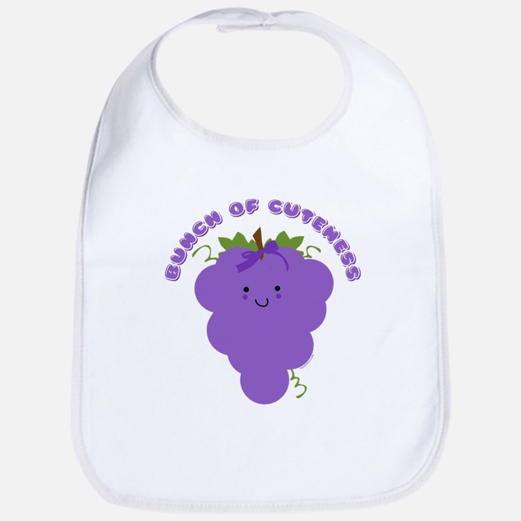 Cute Kawaii Grapes Bib