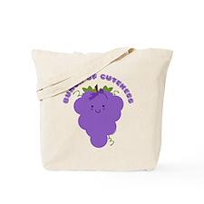 Cute Kawaii Grapes Tote Bag