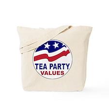 Tea Party Values Tote Bag