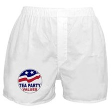 Tea Party Values Boxer Shorts