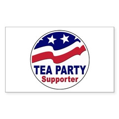 Tea Party Supporter Sticker (Rectangle)