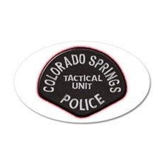 Colorado Springs Police Tac U 38.5 x 24.5 Oval Wal