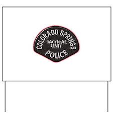 Colorado Springs Police Tac U Yard Sign