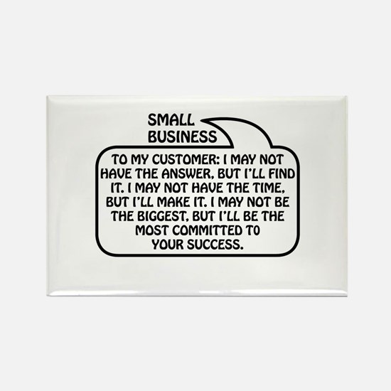 Small Business Bubble 1 Rectangle Magnet