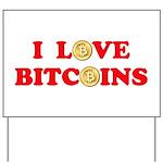 Bitcoins-4 Yard Sign