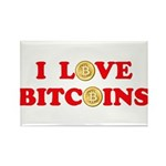 Bitcoins-4 Rectangle Magnet (100 pack)
