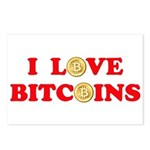 Bitcoins-4 Postcards (Package of 8)