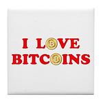 Bitcoins-4 Tile Coaster