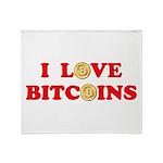 Bitcoins-4 Throw Blanket