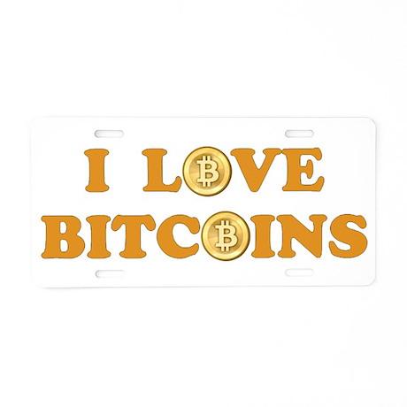 Bitcoins-6 Aluminum License Plate