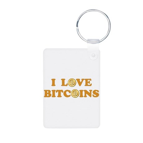 Bitcoins-6 Aluminum Photo Keychain