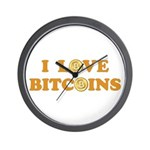 Bitcoins-6 Wall Clock