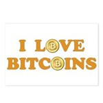 Bitcoins-6 Postcards (Package of 8)