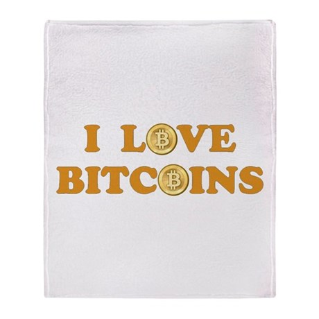Bitcoins-6 Throw Blanket