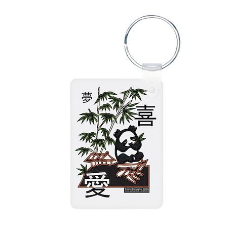 Dream Joy Love Panda Aluminum Photo Keychain