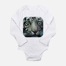 White Tiger Long Sleeve Infant Bodysuit