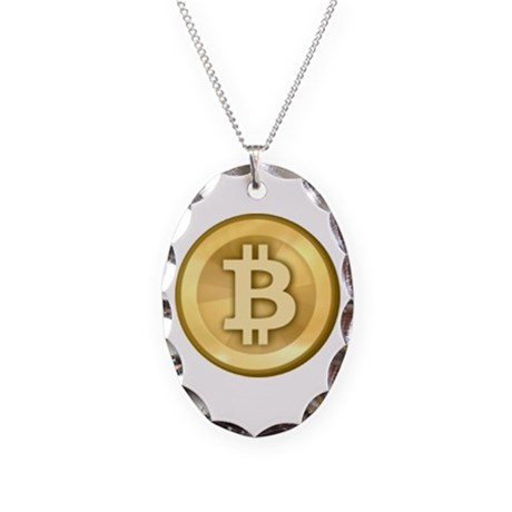 Bitcoins-5 Necklace Oval Charm