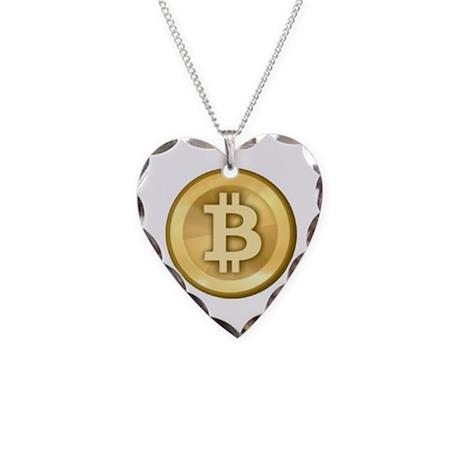 Bitcoins-5 Necklace Heart Charm
