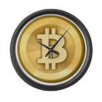 Bitcoins-5 Large Wall Clock