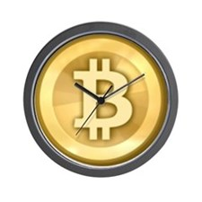 Bitcoins-5 Wall Clock