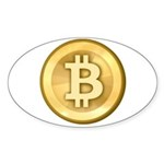 Bitcoins-5 Sticker (Oval 10 pk)