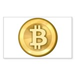 Bitcoins-5 Sticker (Rectangle 50 pk)