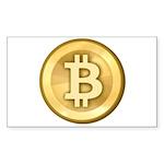 Bitcoins-5 Sticker (Rectangle 10 pk)