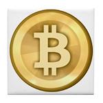 Bitcoins-5 Tile Coaster