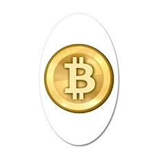 Bitcoins-5 22x14 Oval Wall Peel
