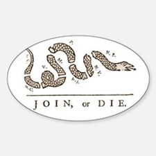 Join or Die Snake Sticker (Oval)