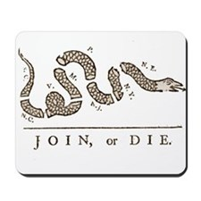 Join or Die Snake Mousepad