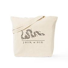 Join or Die Snake Tote Bag