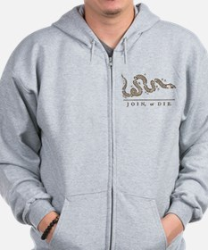 Join or Die Snake Zip Hoody