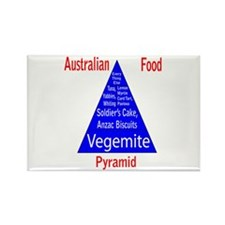 Australian Food Pyramid Rectangle Magnet