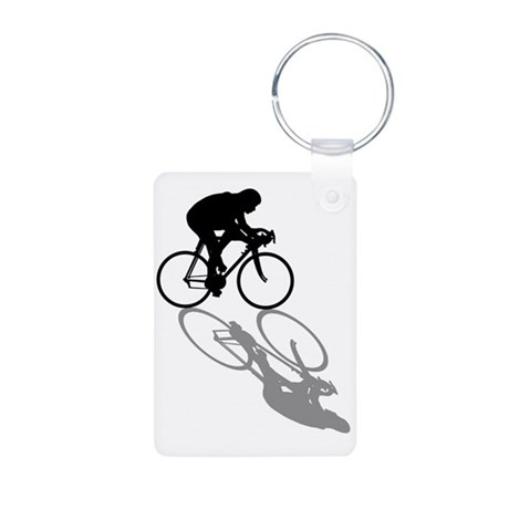 Cycling Bike Aluminum Photo Keychain