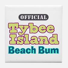 Tybee Island Beach Bum - Tile Coaster