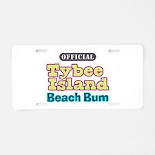 Tybee Island Beach Bum - Aluminum License Plate